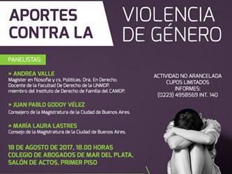 Aportes contra la violencia de género