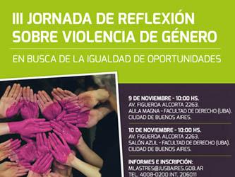 III Jornada de Reflexión Sobre la Violencia de Género