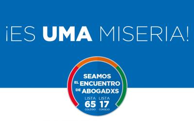 Es UMA Miseria! Lo explican los Dres. Juan Pablo Godoy Vélez y Juan Pablo Iunger