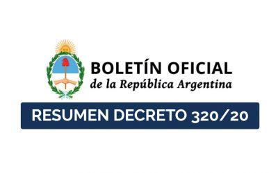 Resumen decreto 320/20